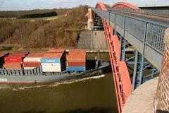 Die Levensauer Hochbrücke von oben