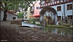 Die Lochmühle an der Großen Blau im Fischerviertel Ulm