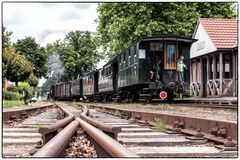 Die Lokomotive ist am anderen Ende