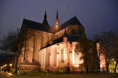 Die Marienkirche von Rostock zur Lichtwoche 2020