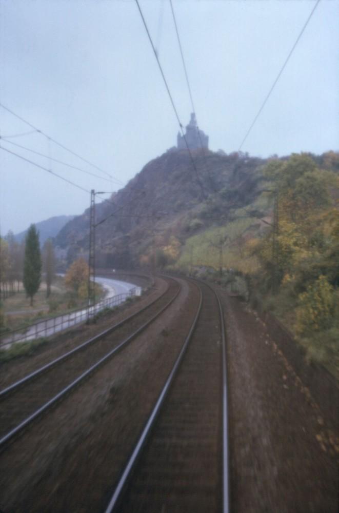 Die Marxburg bei Braubach 1974
