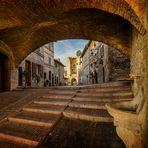 Die Mauern von Assisi