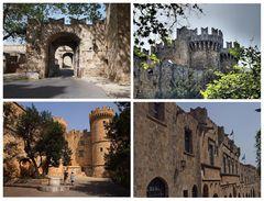 Die Mauern von Rhodos-Stadt