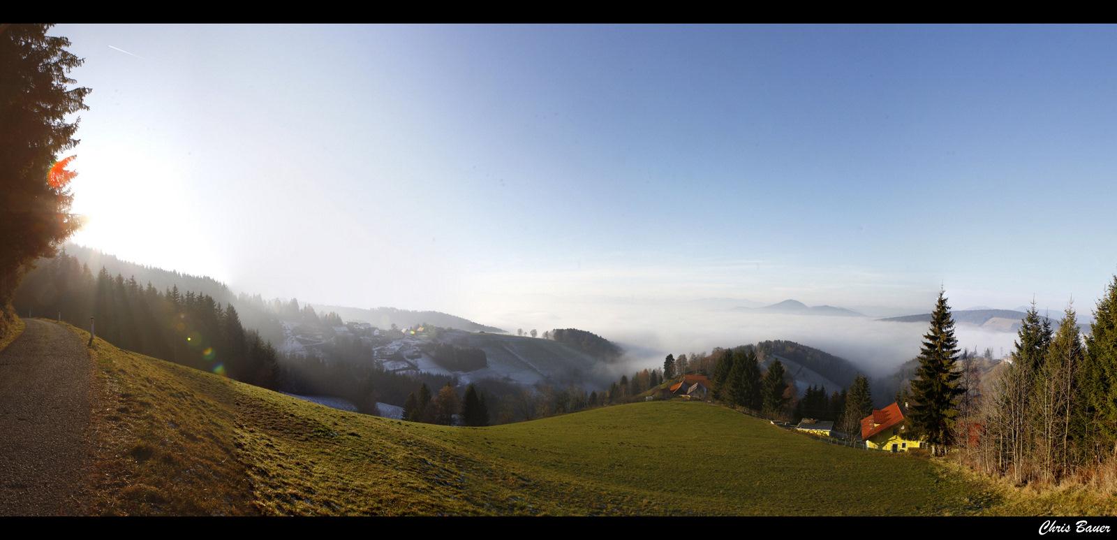 ...die Melancholie vorüberziehen lassen wie eine Wolke, ..