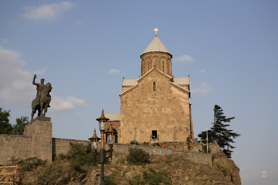 Die Metechi-Kirche in Tbilisi - Georgien