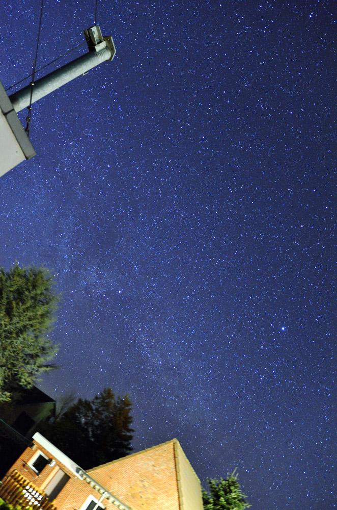 Die Milchstraße im Garten ....