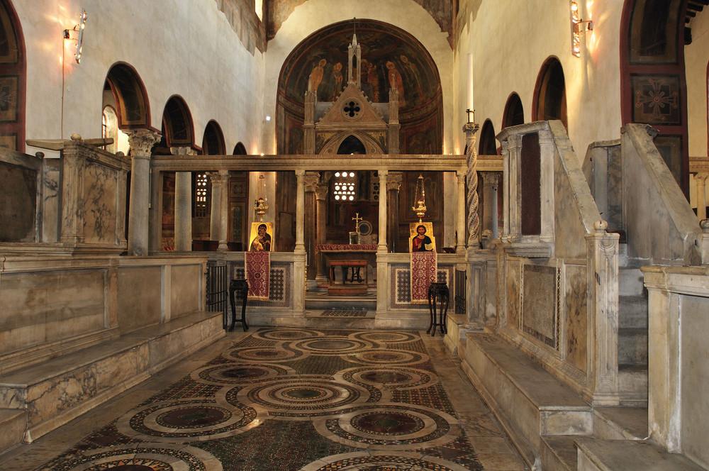 Die mittelalterliche Kirche Santa Maria in Cosmedin