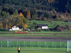 Die Montafonerbahn durch Liechtenstein Richtung Schweiz...