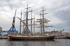 """Die """"Morgenster"""" zur Hanse Sail 2014 im Rostocker Stadthafen"""