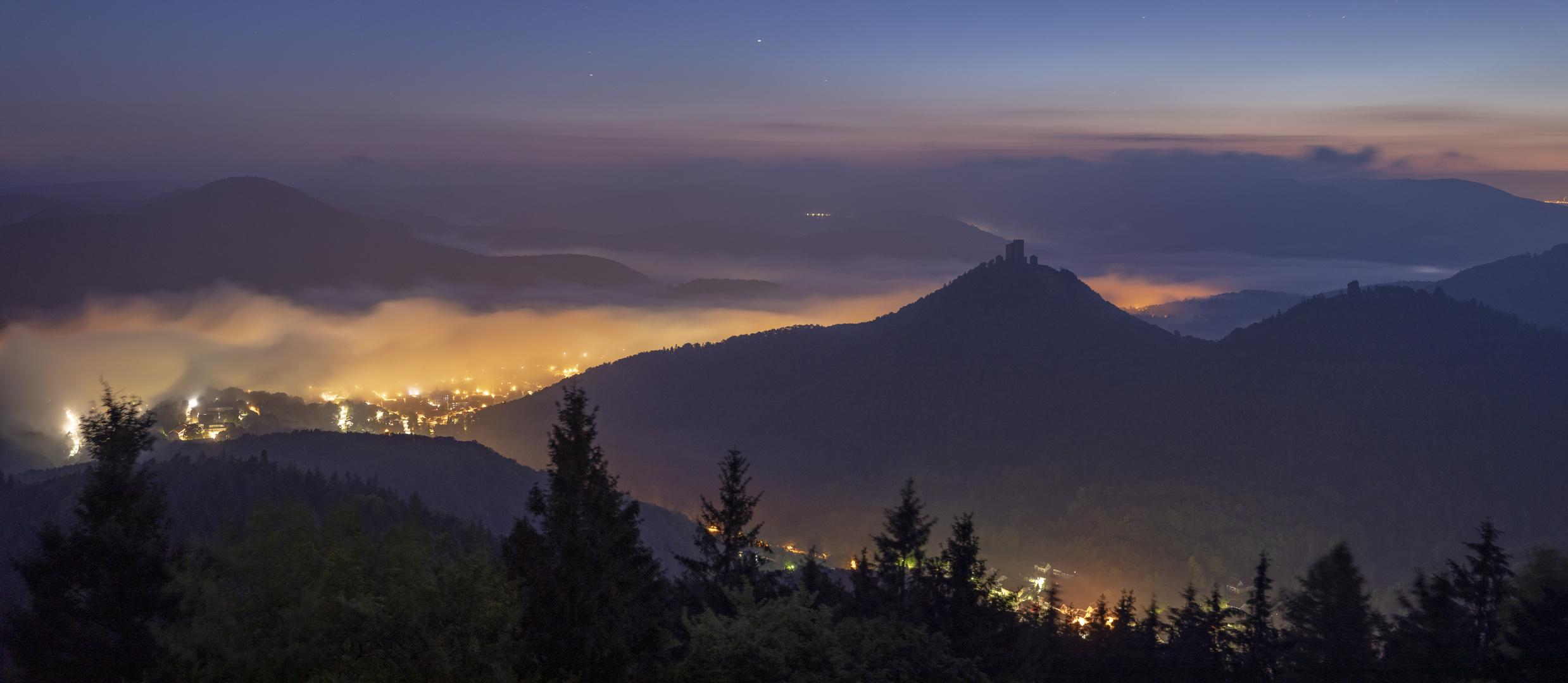 Die Nacht über dem Nebel...