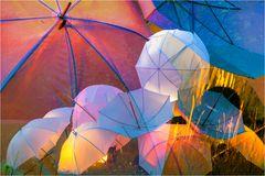 Die nächsten Tage brauchen wir keinen Regenschirm, weg damit!!