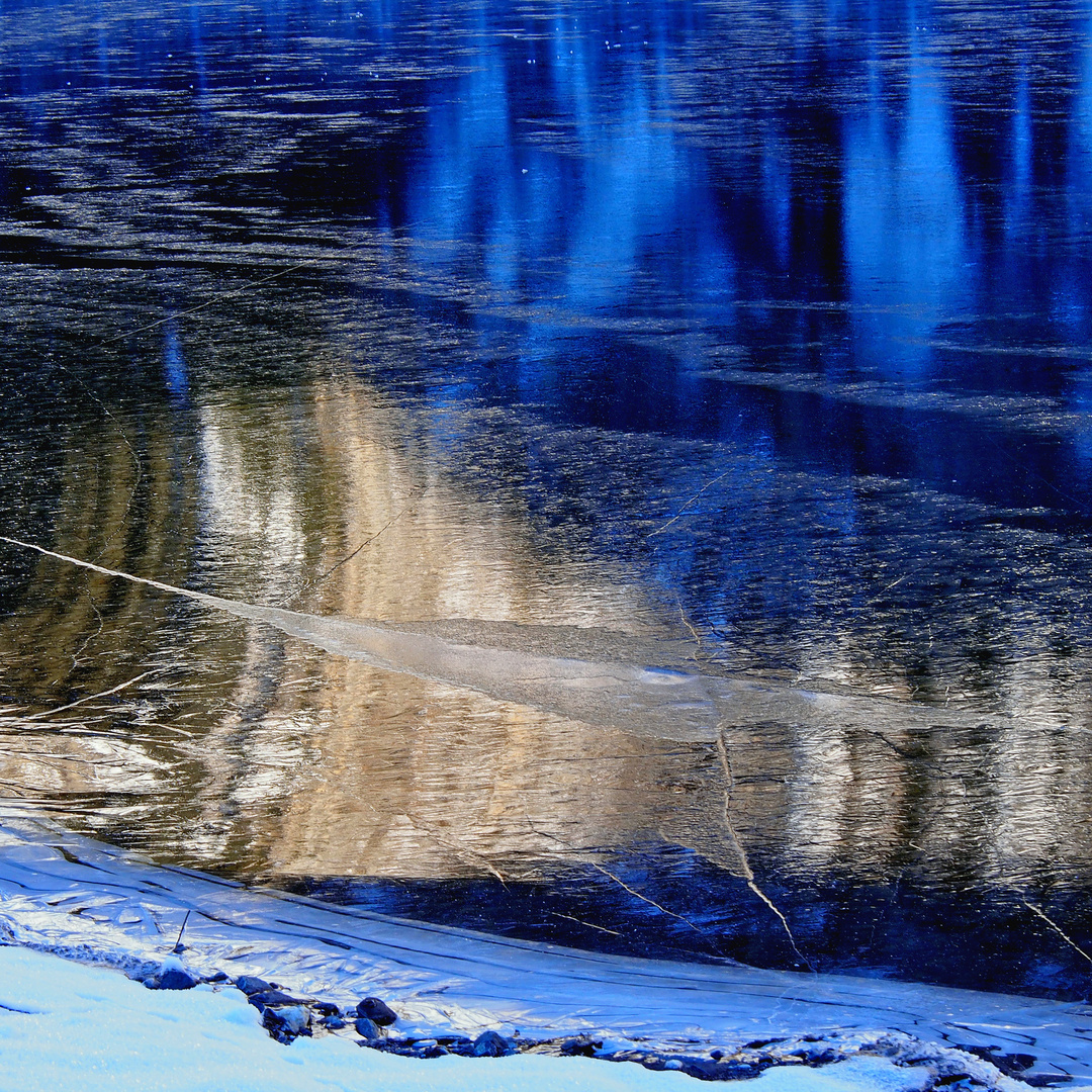 Die Natur ist die grösste Künstlerin! - Lumières et réflexions sur le lac de montagne...