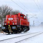 Die neue Baureihe 265 der DB im verschneiten Kiel.