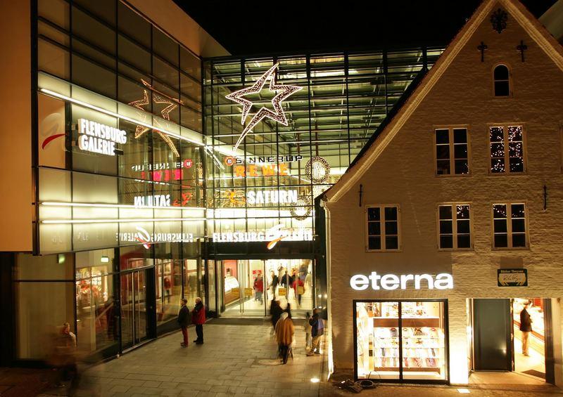 Die neue flensburg gallerie foto bild architektur architektur bei nacht r u bilder auf - Architektur flensburg ...
