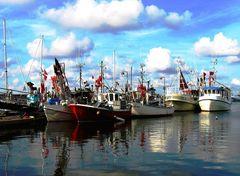 die Nordsee leergefischt ? ...alle Boote im Hafen