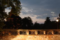 Die nürnberger Maxbrücke bei Nacht