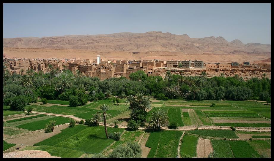 Die Oasenstadt Tinerhir, Marokko