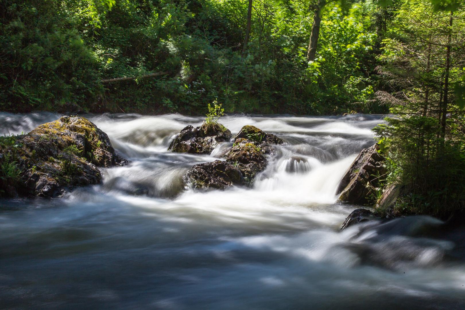 Die Oker - unterhalb der Romkerhaller Wasserfälle