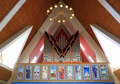 Die Orgel der Kirche in Hammerfest