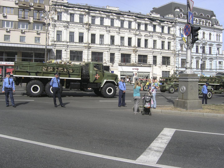 Die Parade im Kiew