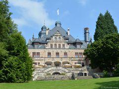 Die Parkseite von Schloss Wolfsbrunnen