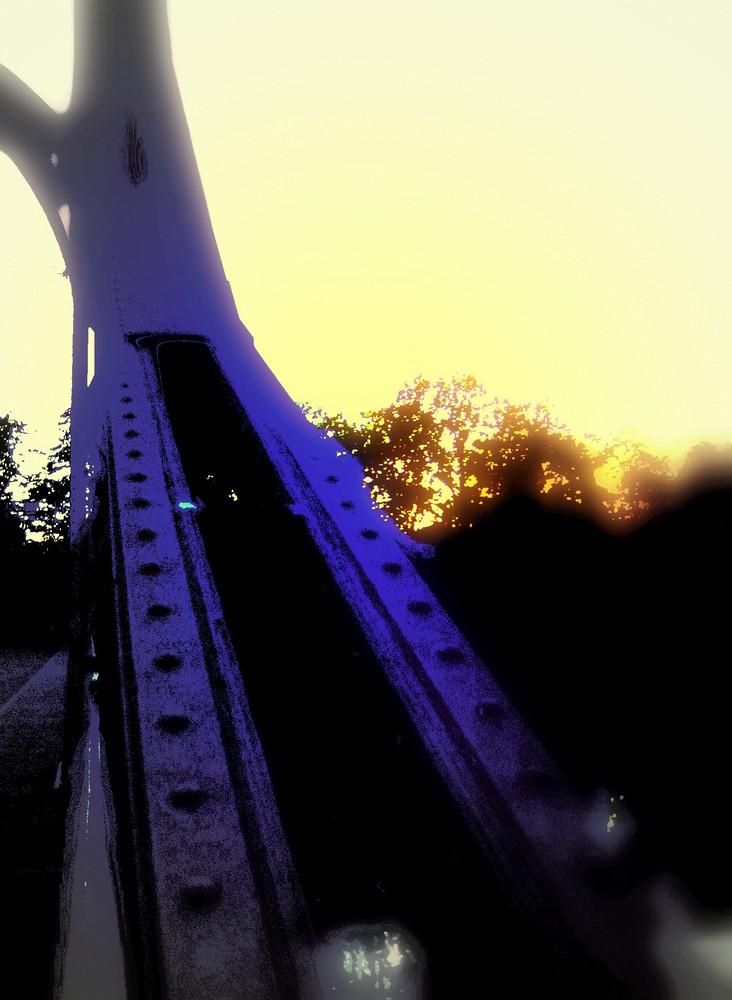 ... Die Peißnitz-Brücke ...