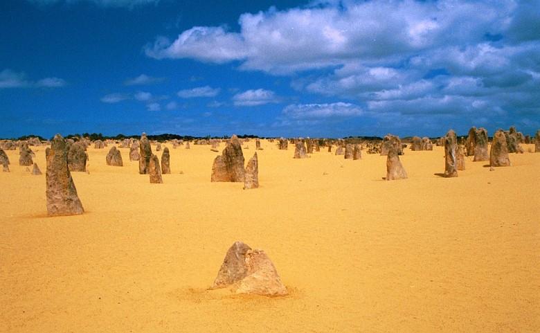 Die Pinnacles-Wüste