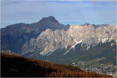 Die Pomagagnon-Gruppe über Cortina d'Ampezzo