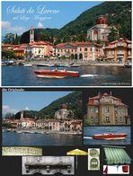 Die Postkarte und das Original samt Zubehör