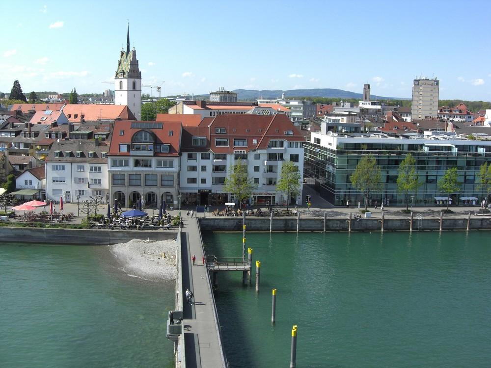 Die Promenade von Friedrichshafen