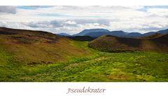 Die Pseudokrater von Skútusstaðir