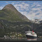 Die Queen im Fjord...
