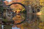 Die Rakotzbrücke im Park Kromlau