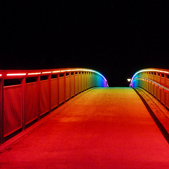 Die Regenbogenbrücke . . .