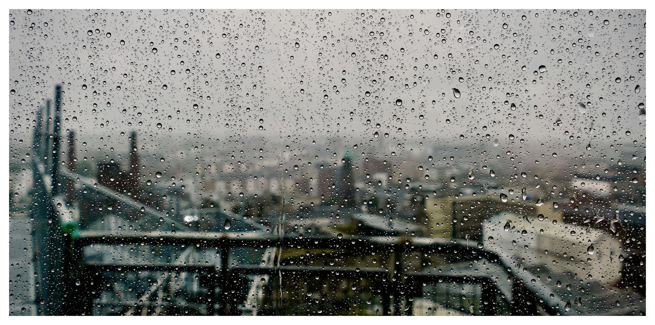 Die Regentropfen