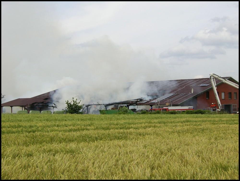 Die Reithalle brannte