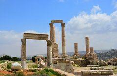 Die Reste des Herkules-Tempels auf der Zitadelle von Amman