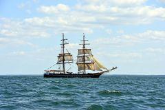 """Die """"Roald Amundsen"""" auf der Ostsee vor Warnemünde"""