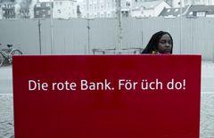 Die rote Bank.