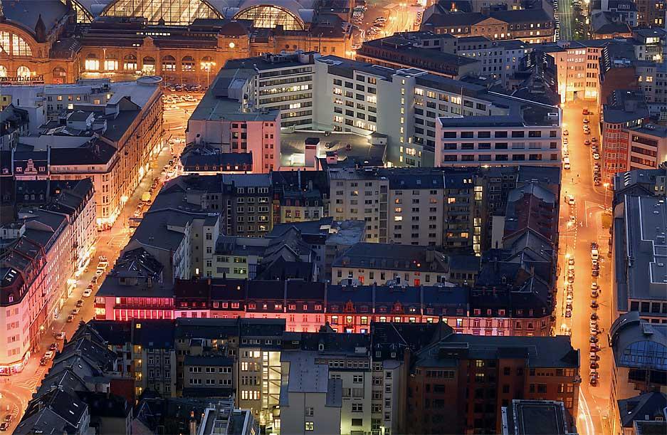 Die rote Meile von Frankfurt