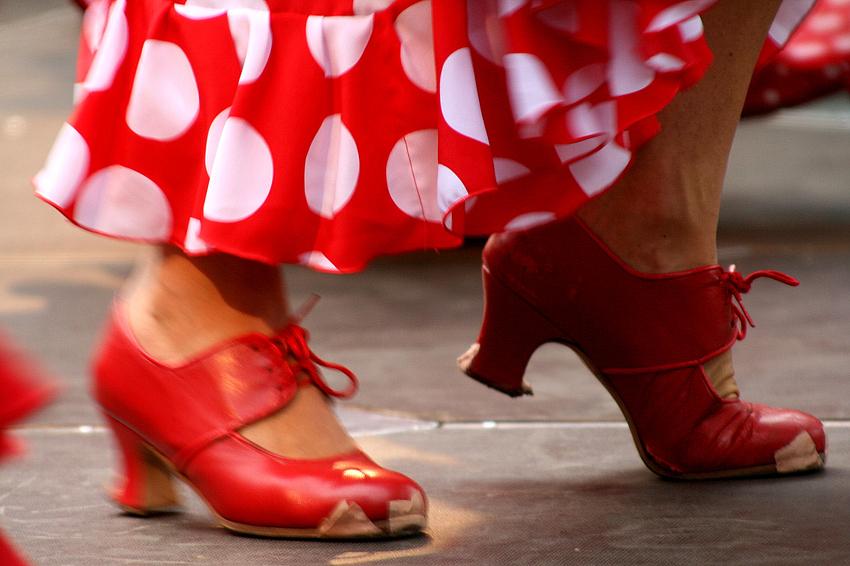 Die roten Schuhe...
