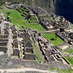 Die Ruinen am Machu Picchu...