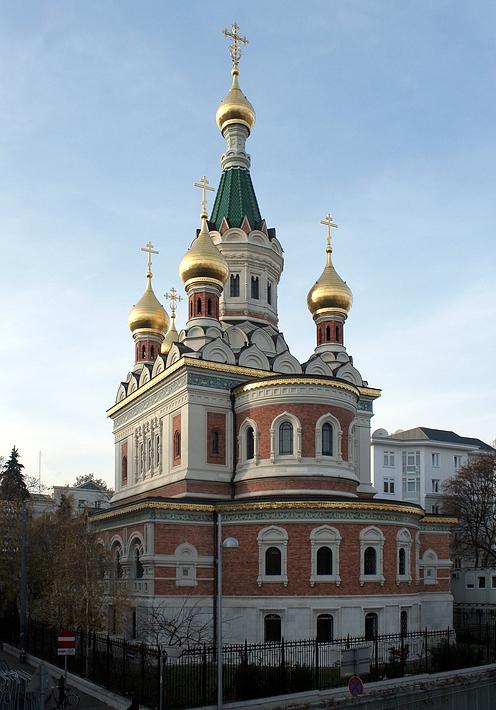 die russisch orthodoxe kathedrale zum heiligen nikolaus in. Black Bedroom Furniture Sets. Home Design Ideas