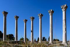 Die Säulen des Apollon-Tempels