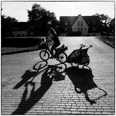 Die Schattenradlerin