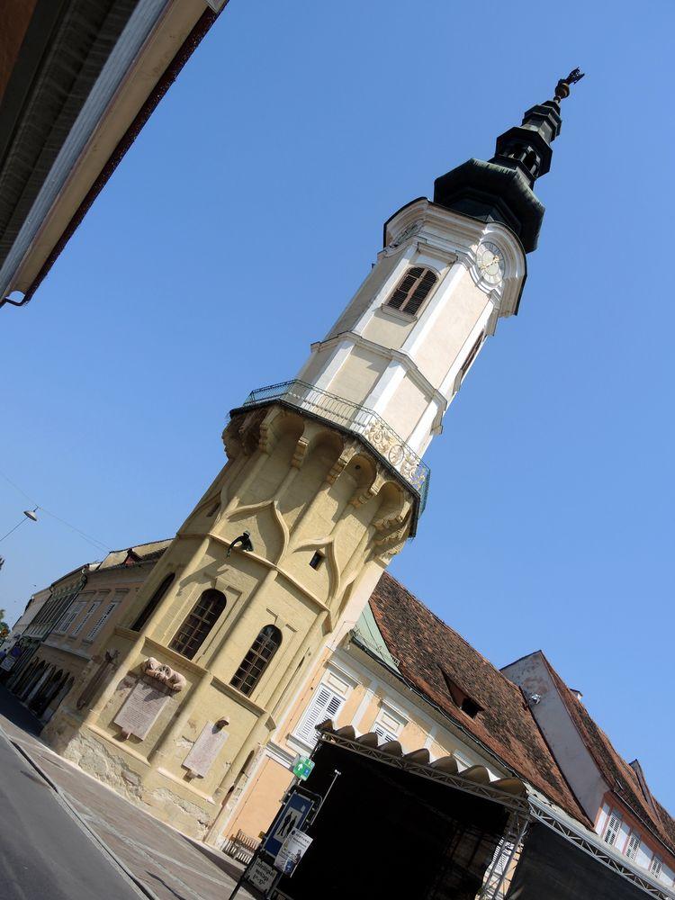 .. die schiefe Kirche v. Bad Radkersburg..
