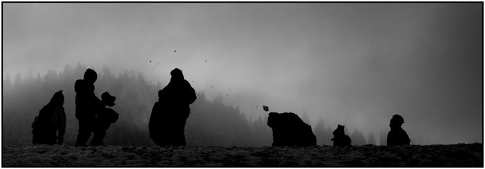 Die Schneeballschlacht ...