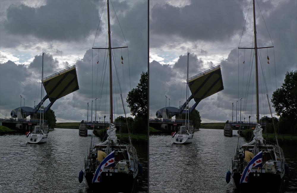Die schrägste Hubbrücke der Niederlande