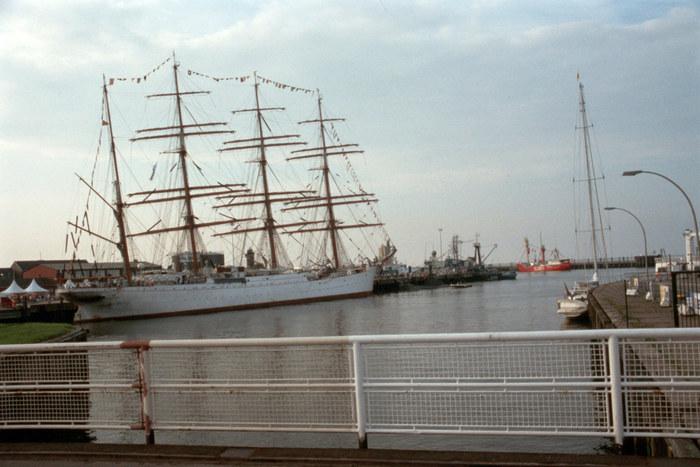 Die Sedow an der Pier