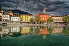 Die Seepromenade von Ascona...